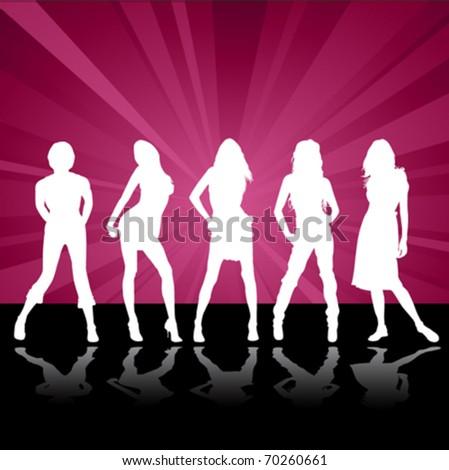 fashion women - stock vector