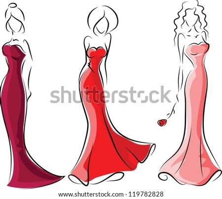 Fashion women, background - stock vector