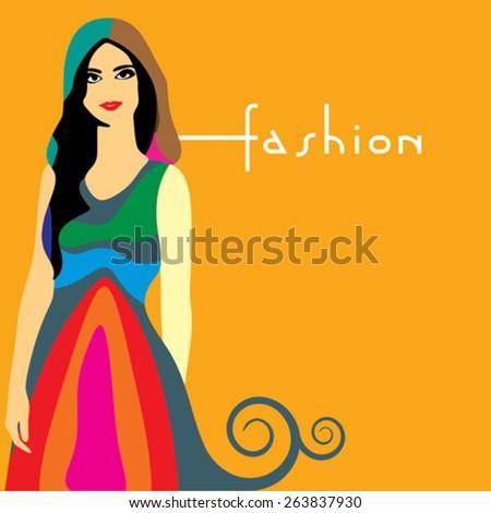 Fashion women illustration - stock vector