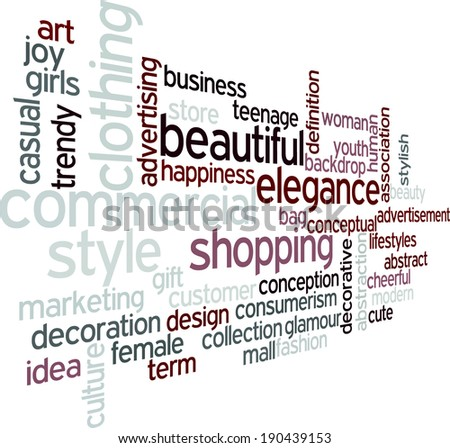 Fashion word cloud concept in vector on white background