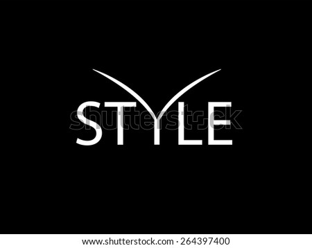 Fashionable background. White letters on a black background. Style  - stock vector