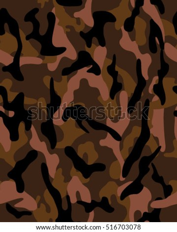 Fashionable camouflage pattern, vector illustration.Millatry print .Seamless vector wallpaper