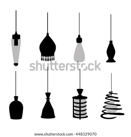 Fashionable Hanging Lamps - Vector