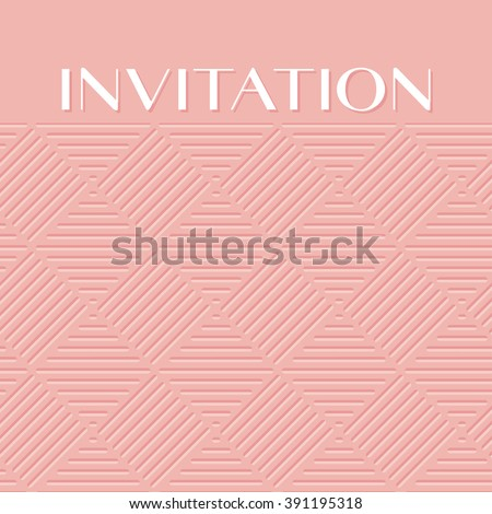 fashionable pale rose color light 3d geometric pattern  - stock vector