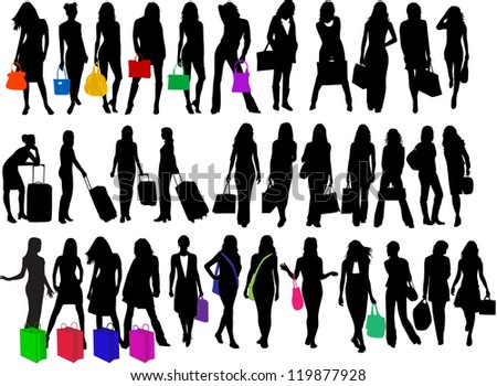 fashionable women going shopping