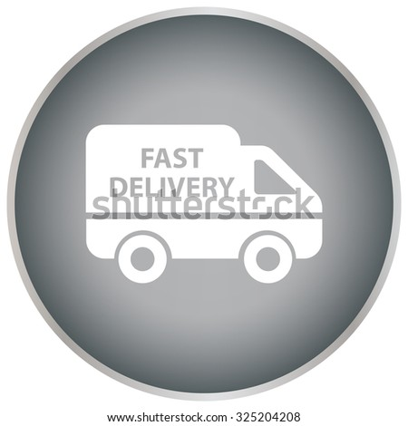 fast delivery icon. Vector illustration.