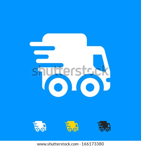 Fast delivery truck icon - stock vector