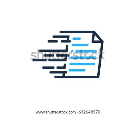 docs paper icon logo design element stock vector  fast docs paper icon logo design element