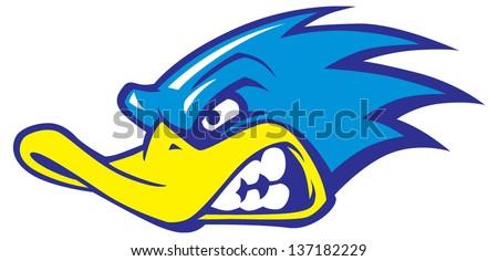 fast duck mascot stock vector 137182229 shutterstock