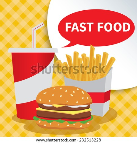 fast food. - stock vector