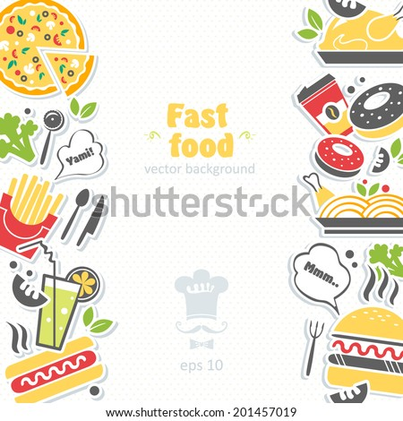 Fast Food Cooker Vector