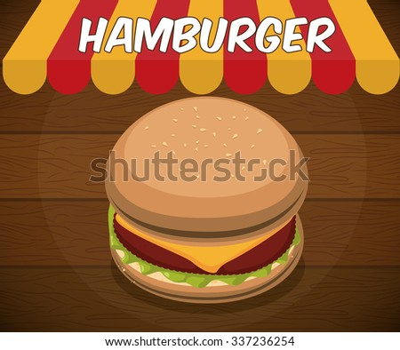 Fast food concept with hamburger design, vector illustration 10 eps graphic