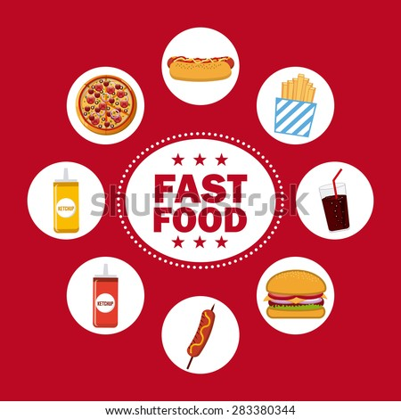 fast food design, vector illustration eps10 graphic