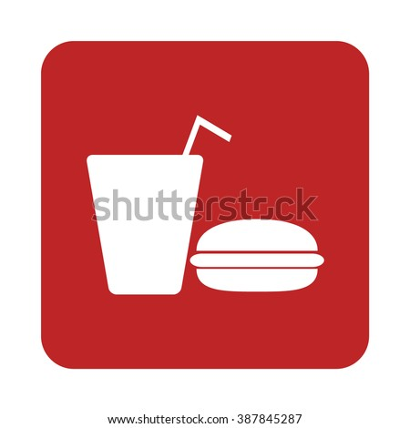 Fast Food drink icon vector
