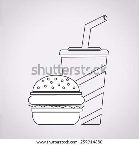 Fast food icon ,drink icon