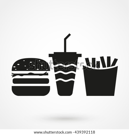 Fast food icon isolated on background. Modern flat pictogram, business, marketing, internet concept. Trendy Simple vector symbol for web site design or button to mobile app. Logo illustration
