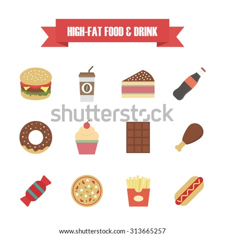 fast food icon, isolated on white background