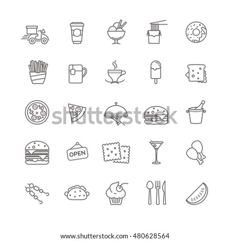 fast food icons - stock set for your design