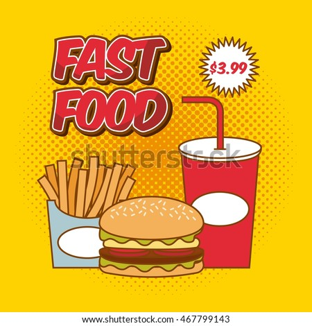 fast food pop art design, vector illustration eps10
