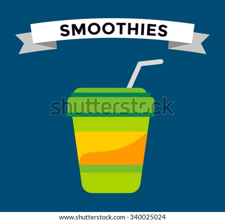 Fast food smoothie drinks glass. Fruit drink logo icon template. Fresh juice coke drink, vegetarian drinks, cold water, objects. Food logo, drinks logo, drinks icon, soda glass, drink, soup, cocktail - stock vector