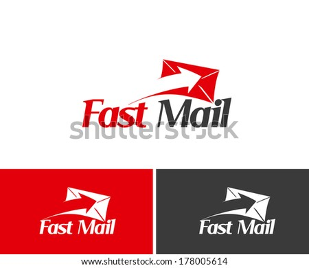 Fast Mail icon Template  - stock vector