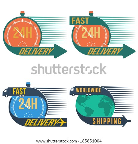 Fast shipping delivery, vector format : credit NASA - stock vector