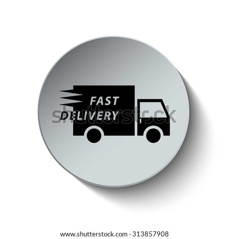 Fast shipping icon. Fast delivery icon. Transport icon. Button. Vector illustration. EPS10 - stock vector