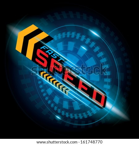 FAST SPEED CONCEPT VECTOR - stock vector