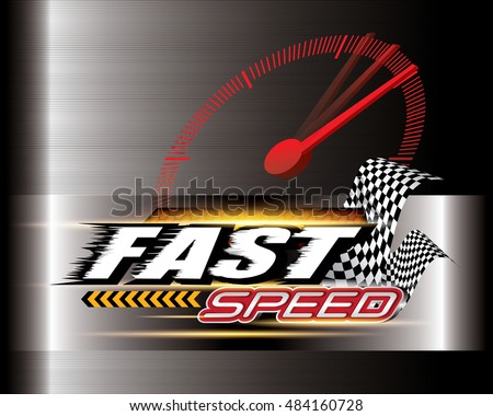 Fast Speed Concept vector