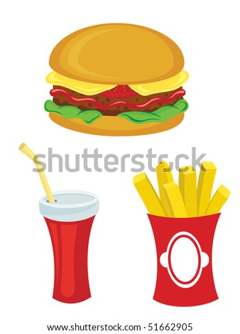 Fastfood - stock vector