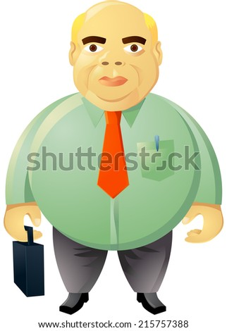 Fat businessman vector - stock vector