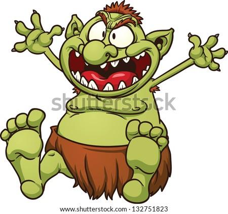 fat cartoon troll vector clip art stock vector 132751823 shutterstock rh shutterstock com troll clip art for free troll clipart free