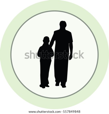 father and kid