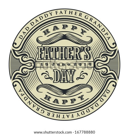Father's day - stock vector