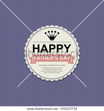 Father's day card.vector illustration  - stock vector