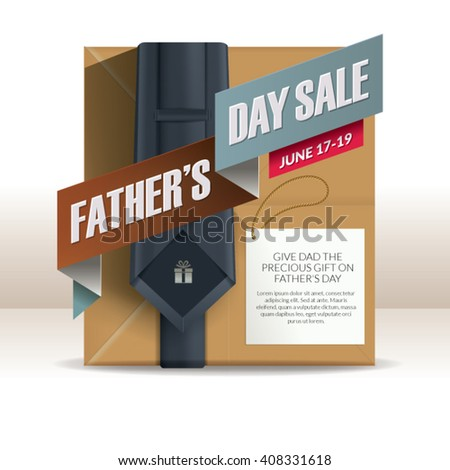 Father'??s Day Gift Promotion Design. - stock vector