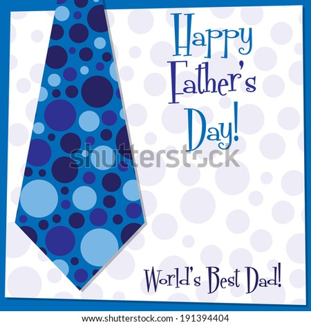 Father's Day tie card in vector format. - stock vector