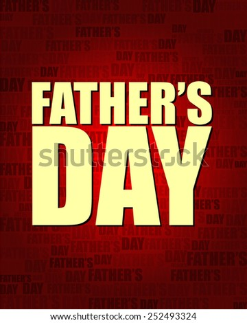 Father's Day with same text on red gradient background.