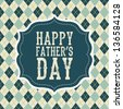 fathers day card, retro style. vector illustration - stock vector