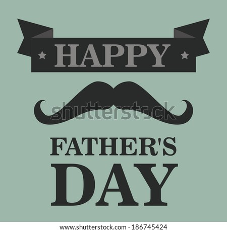 Fathers day design over gray background, vector  illustration