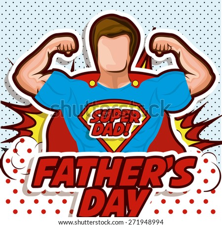 Fathers day design over pointed background, vector illustration - stock vector