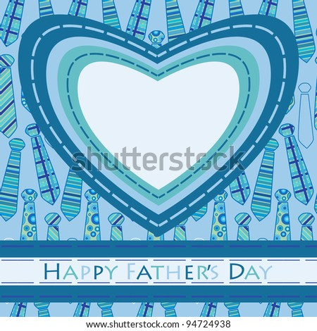 Fathers Day greeting card - stock vector