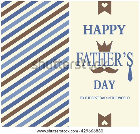 Fathers day greeting card. vector illustration. - stock vector
