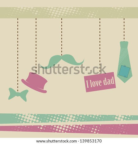 fathers day icons over grunge background vector illustration - stock vector