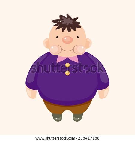 fatty theme elements - stock vector