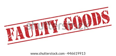 faulty goods vector stamp on white background