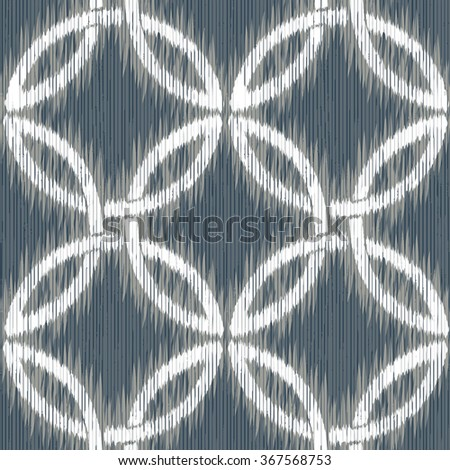 Faux dye overlapping circle weave pattern seamless vector background tile