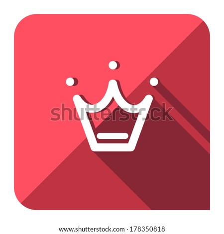 favorite crown icon. flat style. - stock vector
