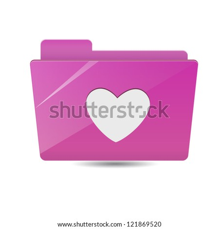 Favorite folder icon - stock vector