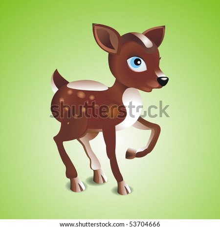 Fawn. Vector illustration - stock vector
